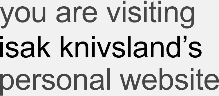 Isak Knivsland